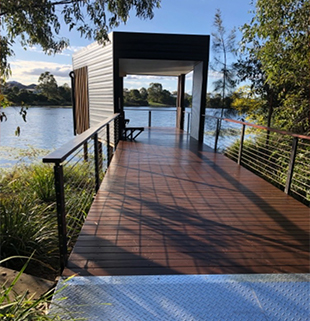 Custom Decking and Structure for Warner Lake