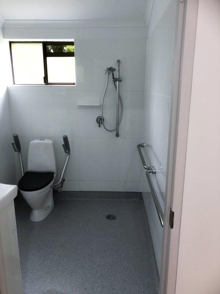 Renovated Bathroom Sparkling Modern Aged Care Construction Nanango Regional Queensland