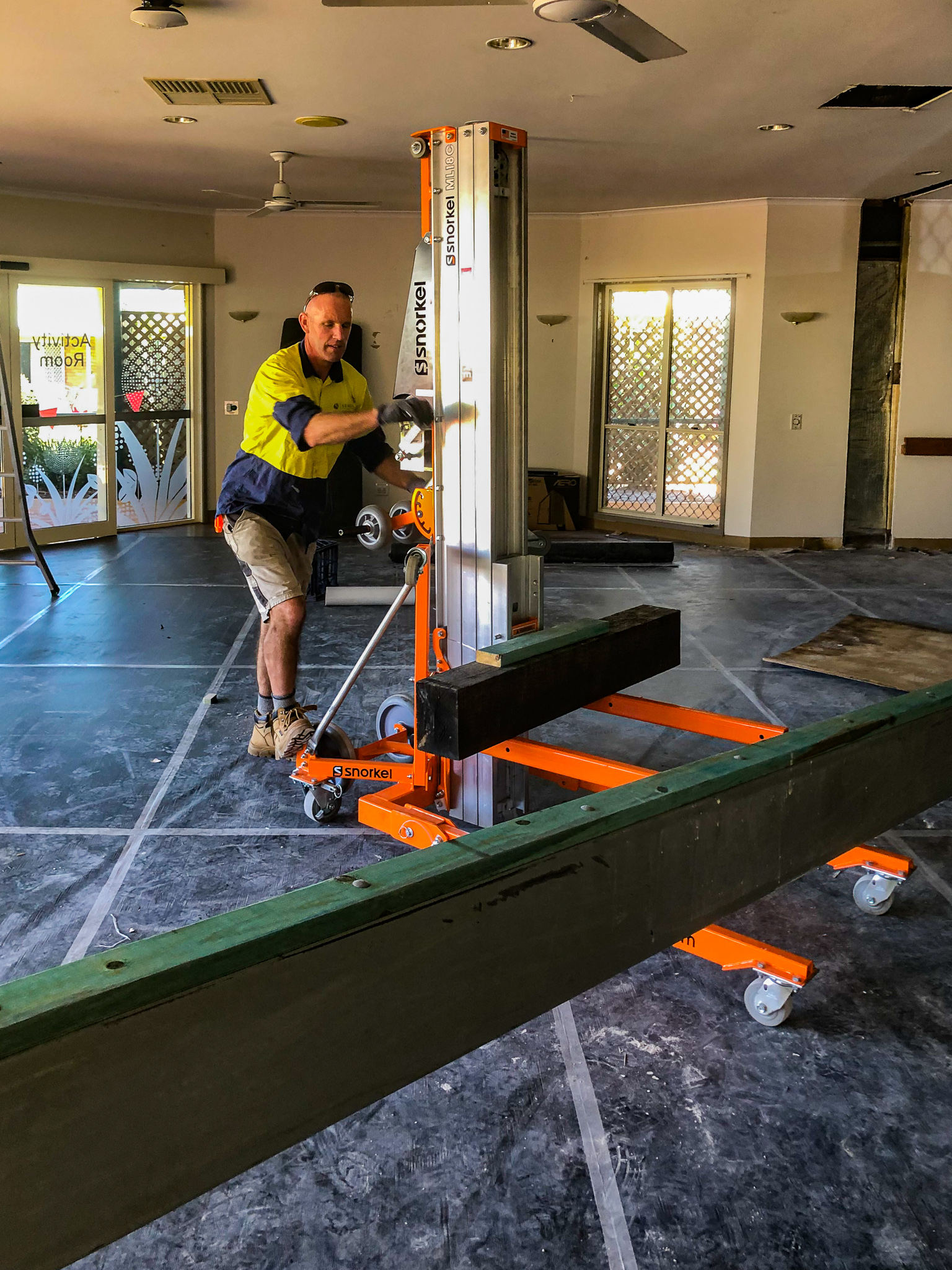 Beam-Installation-Construction-Tradespeople-Safety-Aged-Care-Renovation
