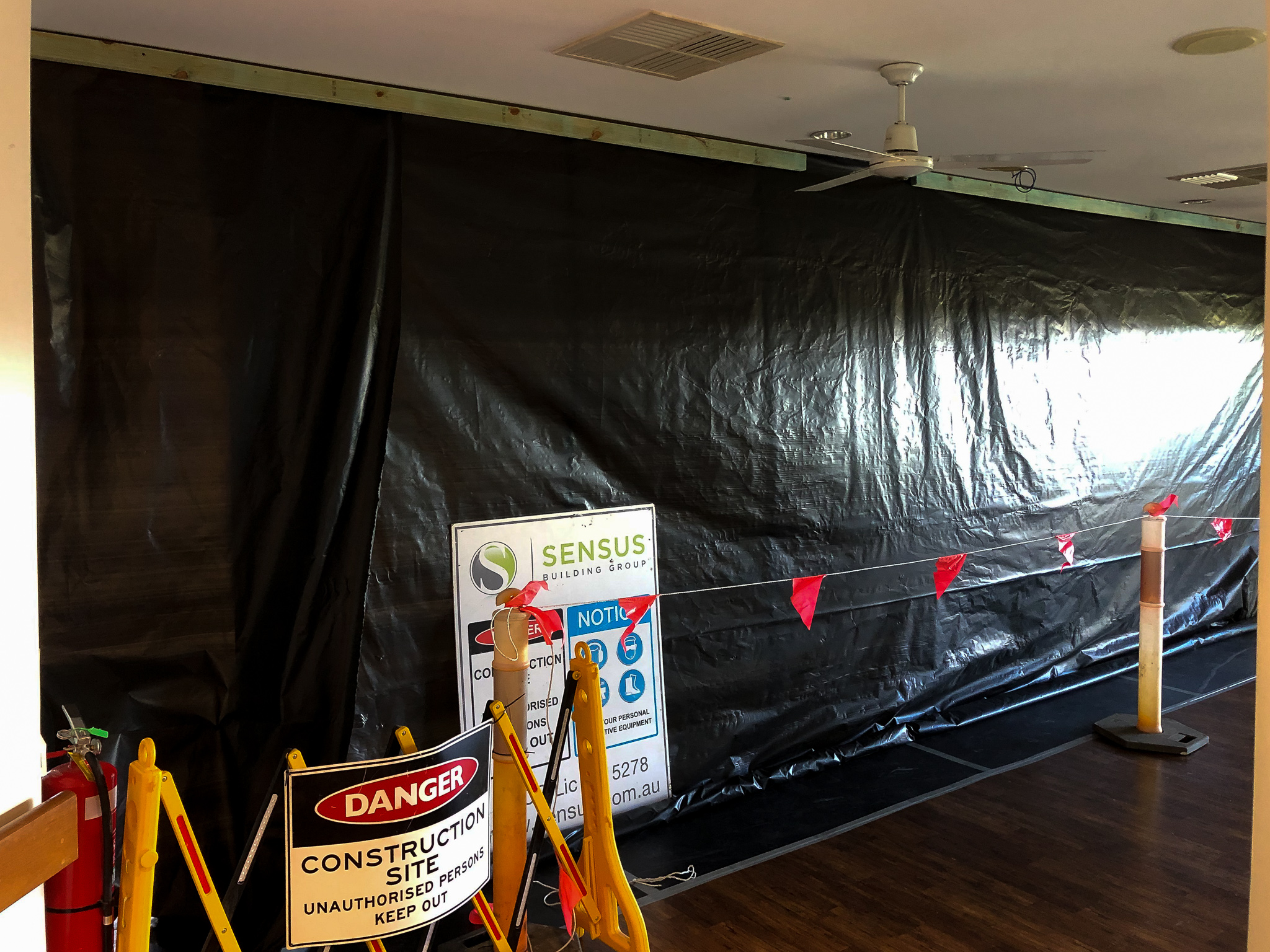 Safety Tarping During Aged Care Construction